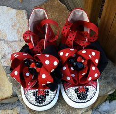 Minnie Mouse Swarovski Converse Infant/Toddler by TuTooCuteTutus, $90.00