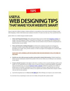 5 website designing tips to bring you more customers