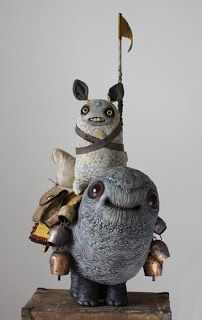 awesomely adorable (yet also oddly creepy) sculptures by Chris Ryniak