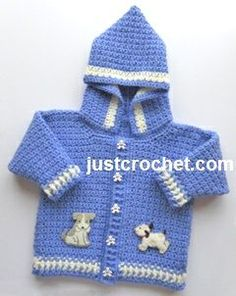 Free baby crochet pattern boys hooded jacket usa