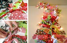 Homemade Christmas Garland | Homemade Indoor Christmas Decorations - Improvements Blog