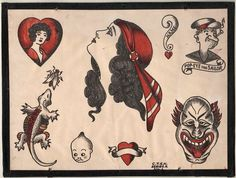 1930's Vintage Percy Waters Tattoo Flash Series A 1 by NavyRays, $24.99