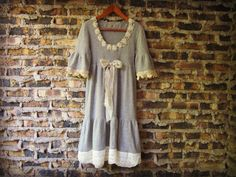 Pure Cashmere Upcycled Shabby Chic Dress// Medium  by emmevielle, $120.00