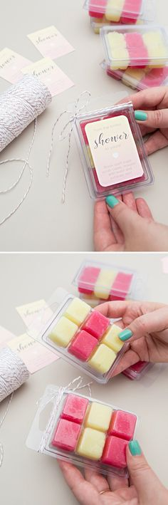 You HAVE To See These Darling Sugar Cube Scrub Favors! I could be responsible for making these..