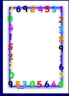 Maths-themed A4 page borders (SB1210) - SparkleBox