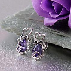Gorgeous Swarovski Adorned Earring