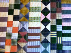 Recycled Clothing Quilt By Sara of Halifax, Nova Scotia