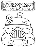 Angry Verbs - Angry Birds Star Wars Coloring Pages