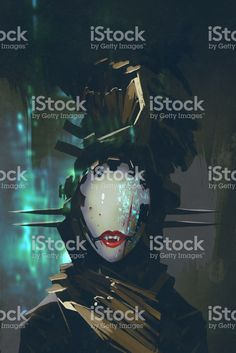 robot woman with artificial face,futuristic concept,illustration. Futuristic, Robot, Darth Vader, Concept, Illustration, Face, Fictional Characters, Woman, The Face