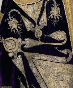 WOMANS GOLD EMBROIDERED COAT, ALBANIA, c. 1900