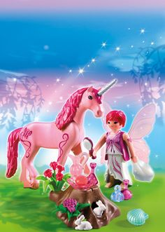 playmobil fairies 5443 Care Fairy with Unicorn 'Rose Red'