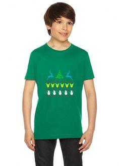 ugly christmas scene reindeer funny Youth Tee