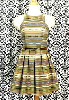 Ikat Sleeveless Flippy Dress by Mika & Gala | Primaulani Fashion Online Store