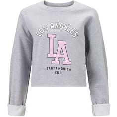 Miss Selfridge La Cropped Sweat Top, Grey ($31) ❤ liked on Polyvore featuring tops, hoodies, sweatshirts, sweaters, shirts, crop top, grey crop top, grey shirt, grey long sleeve shirt and gray long sleeve shirt