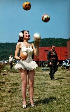 Vintage photos of circus women! Where were these when I was doing my thesis? Lottie Brunn, 1949