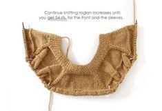 Knitted Ruffle Sweater for girl – Pattern & Tutorial How To Start Knitting, Knitting For Kids, Baby Knitting Patterns, Knitting Stitches, Baby Patterns, Baby Girl Cardigans, Girls Sweaters, Crochet Baby, Crochet Bikini