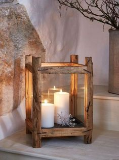 Wood Candle Lantern - L This beautifully hand-crafted, large driftwood style candle lantern is an undeniable statement piece.This beautifully hand-crafted, large driftwood style candle lantern is an undeniable statement piece. Garden Lanterns, Candle Lanterns, Diy Candles, Rustic Lanterns, Garden Candles, Outdoor Candles, Hurricane Lamps, Candle Lamp, Lanterns Decor