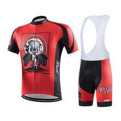 Men's Short Sleeve MTB Cycling Jersey with Bib Shorts