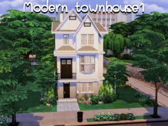 Modern Townhouse, Sims 4 Game Mods, Sims 4 Mods, The Sims 4 Lots, Mod Hair