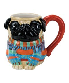 Sip on a little whimsy while you drink your coffee from this mug that holds a generous 18 ounces of your morning elixir.