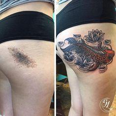 creative birthmark tattoo cover up