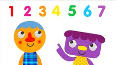 Practice counting backwards and forwards from 1 to 7 with these adorable cartoon characters. Try marching, clapping, or jumping along.