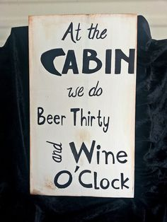 Wood sign cabin wine beer drinking by kpdreams on Etsy, $25.00