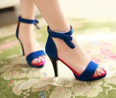 Heels: approx 9 cm Platform: approx 1 cm Color: Black, Blue, Fuchsia Size: US 3, 4, 5, 6, 7, 8 (All Measurement In Cm And Please Note 1cm=0.39inch) Note:Use Size Us 5 As Measurement Standard, Error:0.
