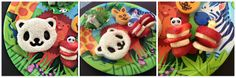 Lunchbox Dad Simple Summer: Zoo Party.  This is a great meal for a party, play date, or sleepover.  It is so easy to reproduce with the CuteZCute cutter!  Check everything out on www.lunchboxdad.com! #easylunches #easykidslunches #pandalunch #bento