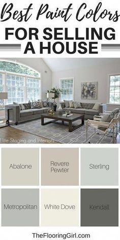 Best paint colors for selling a house. – Nicole Gashie-Lovis Best paint colors for selling a house. Best paint colors for selling a house. Best Paint Colors, Paint Colors For Home, Popular Paint Colors, Neutral Paint Colors, Paint Color Schemes, Wall Paint Colors, Best Paint For Walls, Best Paint For Bedroom, Colors For Kitchen Walls