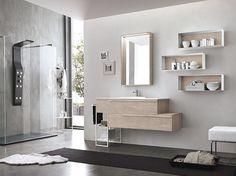 Mobile bagno legno design arredamento from bagnoarredobacco.it
