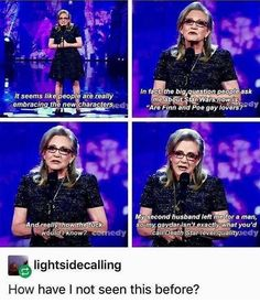 Gotta love Carrie fisher aka my queen
