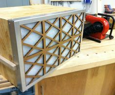 This is a simple design for a table top dust collector. It is intended to reduceinhalationof fine particulate. I use this while routing ply wood or mdf, mixing plaster or clay, and sandinggreen wareor dried clay. So pleasedon'texpect this thing to clean up after you. Step one) First build your box. This particular unit is built to accept standard 16 x 25 x 1 inch furnace filters. I choose to use only scraps for this whole project, which dictated the depth ...