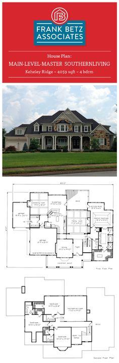 Keheley Ridge: 4059 sqft, 4 bdrm, Southern Living house plan design by Frank Betz Associates Inc.  Built by Hatcliff Construction Inc.