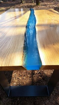 Two pieces of carefully selected wood with live edge holding together by resin. Which is simply beautiful! Wood comes from the Slovenian