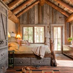 Bedroom Log Cabin Decorating Design, Pictures, Remodel, Decor and Ideas - page 2