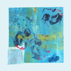 KoiPond Mixed Media Contemporary Monoprint by kbmatter
