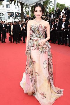 Shu Qi in Elie Saab Spring 2015 Couture - 2015 Cannes Film Festival