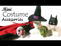 Creating Dollhouse Miniatures: Miniature Halloween Costume Accessories Tutorial
