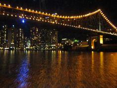 Brisbane, Brisbane river night view.