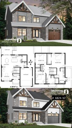 Northwest Style House Plan With Garage, Master Suite, Large Kitchen With  Island U0026 Pantry