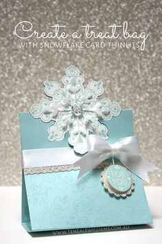 By Teneale Williams   Artisan Blog Hop   Snowflake Card Thinlits Dies