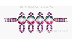 Free pattern for necklace Ava - 2----u need Seed beads 11/0 and Faceted beads 6 mm.