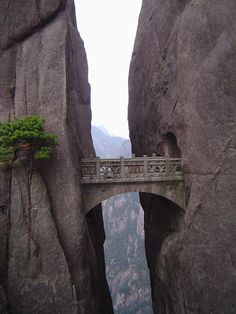 The Bridge Of Immortals is the world's highest bridge is in the Yellow Mountains or Mt. Huangshan, China