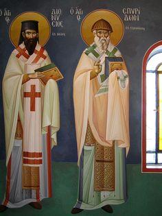 Byzantine Icons, Byzantine Art, Saint Anthony Church, Nashville Tennessee, Athens Greece, Fresco, Saints, Creations, Sketches