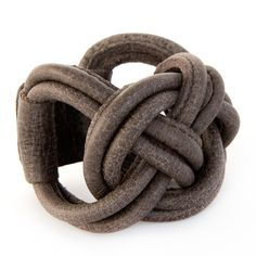 soft taupe leather bracelet Naval Knot Big, handmade by Bruno in Croatia, available at www.issamadeby.nl €42,50