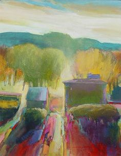 "My Neighbor's House #820"" - Landscape Art by Mark Gould"