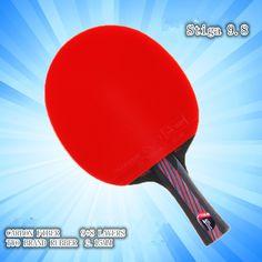 Híbrido De Madera 9.8 Calidad de la Marca de tenis de Mesa raqueta de doble cara Espinillas-en azul de goma de Ping Pong Raqueta de tenis de mesa