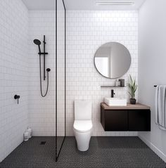 Bathrooms: The colour palette and overall feel of this bathroom is nice. However, there are issues with it - lack of shelf in shower, basin is too small, not enough storage, lack of toilet roll holder, risk of water escaping the shower cubical.