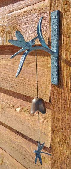 Brass Dragonfly Garden Bell